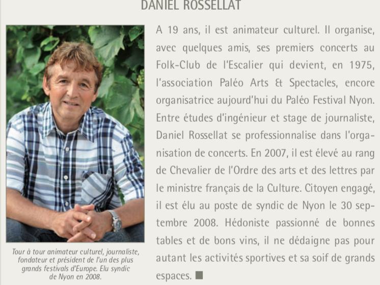 Daniel Rosselat: quand Paléo démarre à l'heure…