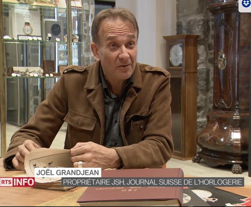 Invité par le journaliste Nicolas Rossé sur le plateau du journal télévisé de la chaîne nationale suisse francophone, la TSR: sujet le changement d'heure.