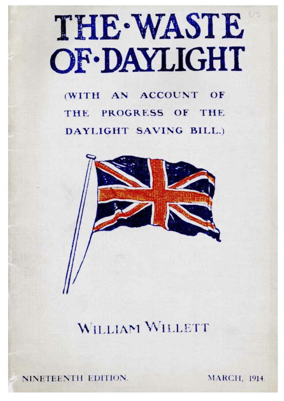 Publié à compte d'auteur par William Willett le livre «Waste of Daylight»: le JSH volume 32 (Journal Suisse d'Horlogerie) lui consacre un article déjà en 1907.